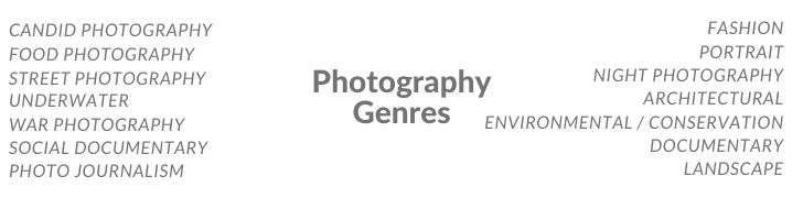 Covers every single genre of photography