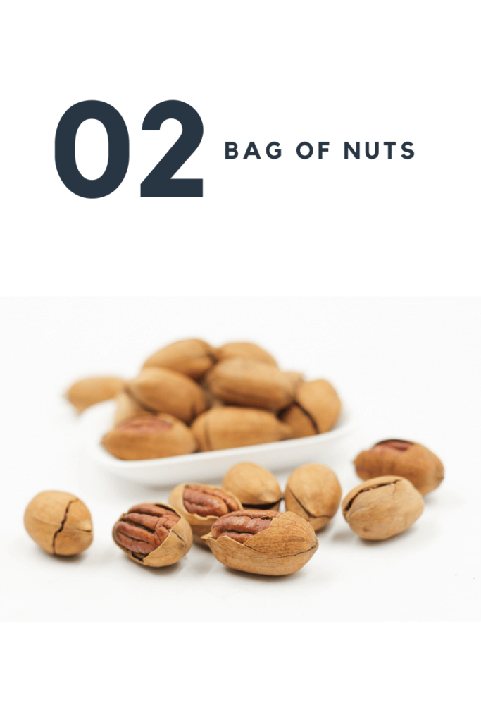 five stuff you need to pack in your luggage - Bag of nuts