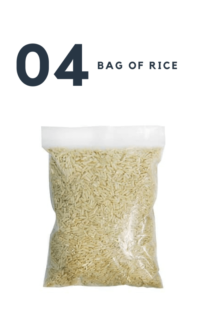 five stuff you need to pack in your luggage -  Bag of rice