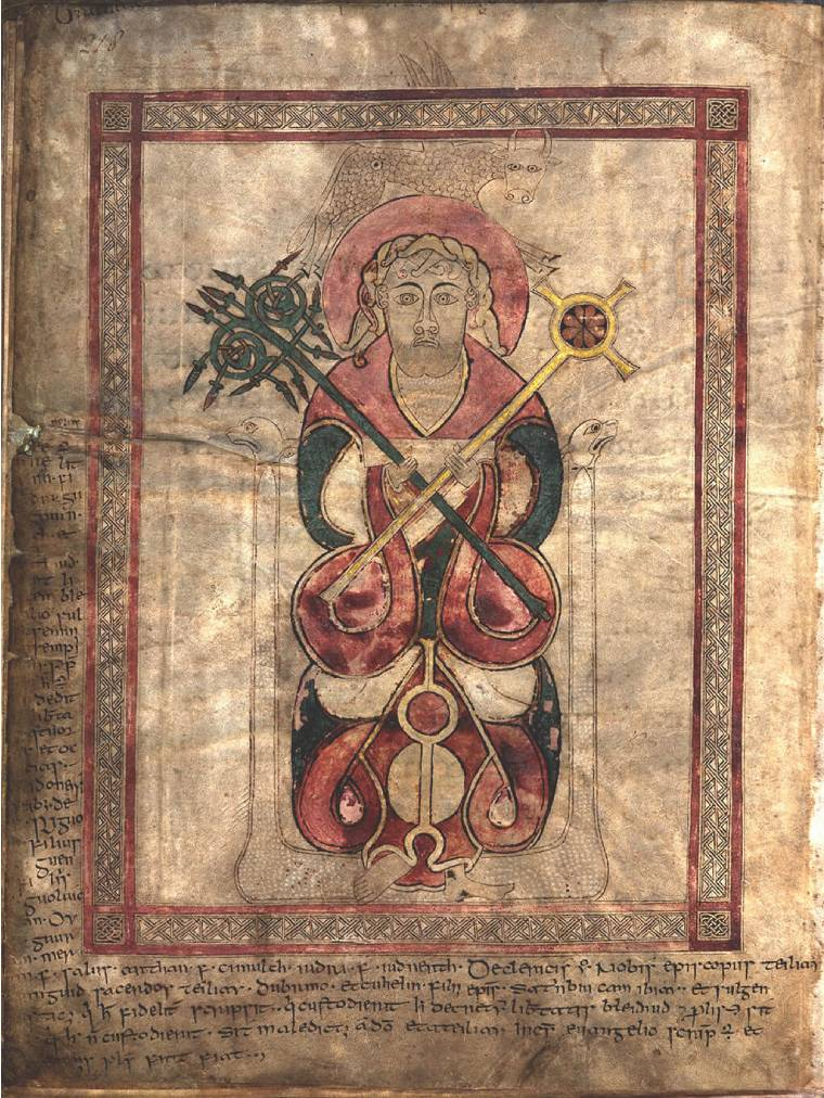 Portrait of St Luke St Chad Gospels