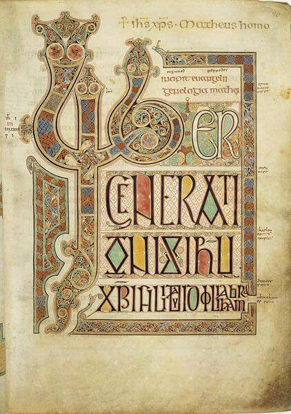 Page from Lindisfarne Gospel