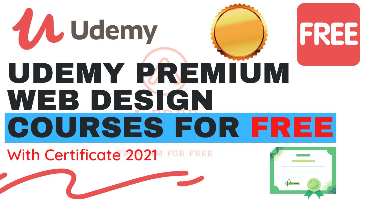 Udemy Premium Web Design Courses For Free