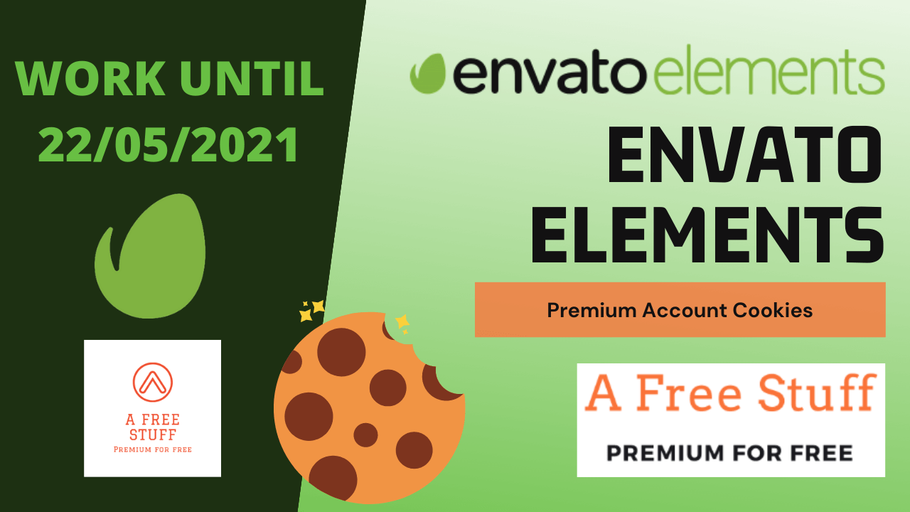 Envato Elements Premium Account Cookies